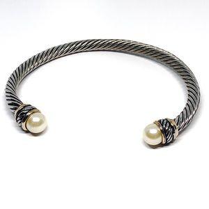 Vintage Twisted Metal Ware Cuff Bracelet